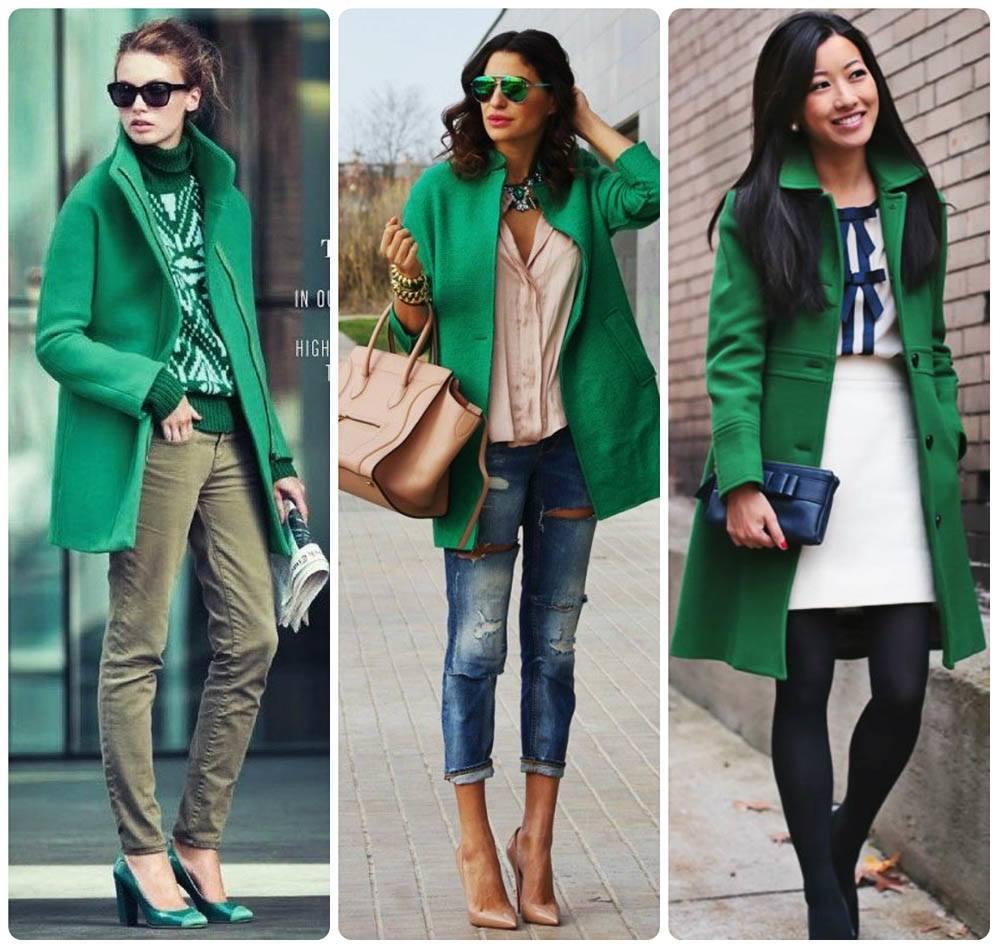Зеленый цвет с чем носить фото
