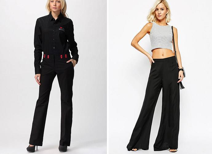 Модные черные брюки