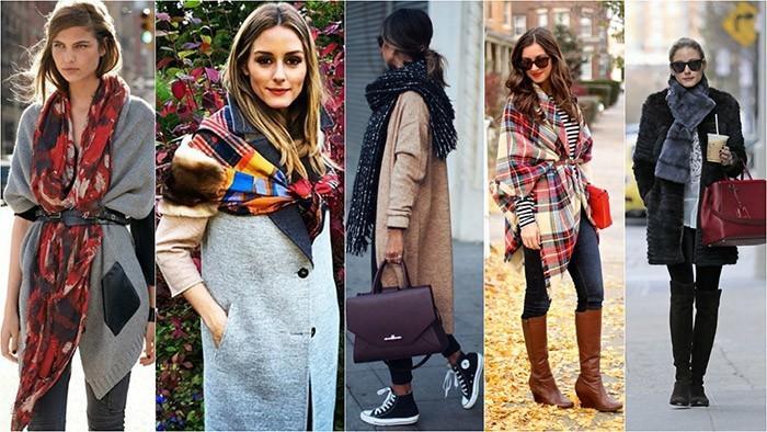 Модные шарфы зима 2017 фото