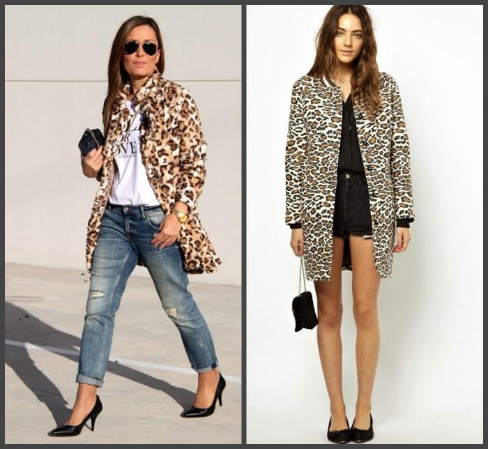 Леопардовое пальто для создания образа