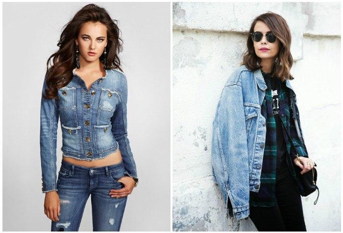 Стильные женские джинсовые куртки