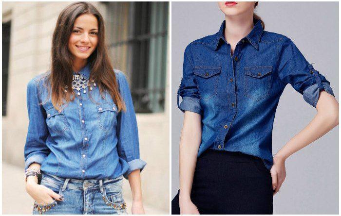 Выбор джинсовой куртки-рубашки