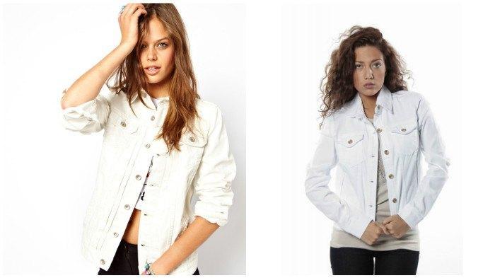 Образ с белой джинсовой курткой