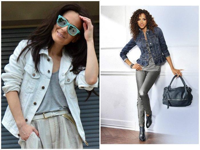 Модные образы с джинсовым жакетом