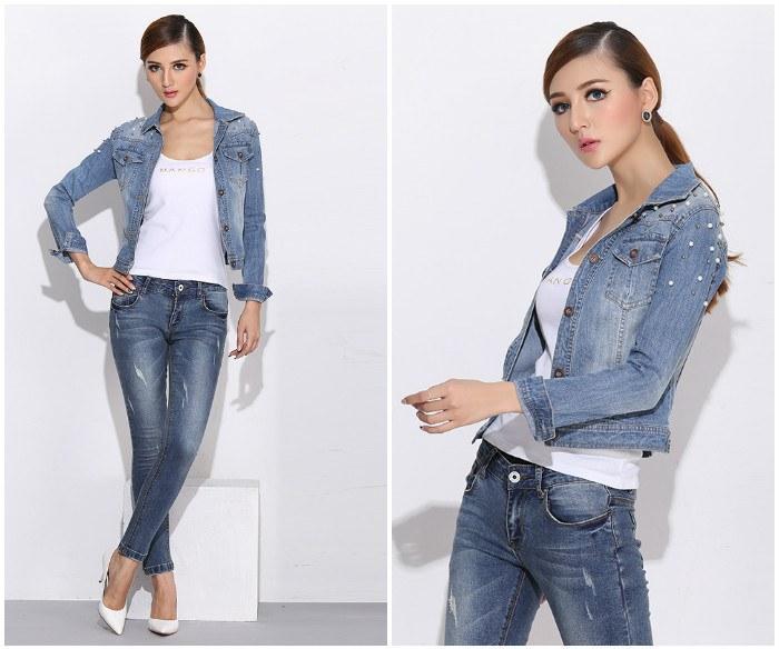 Джинсовый жакет с джинсами