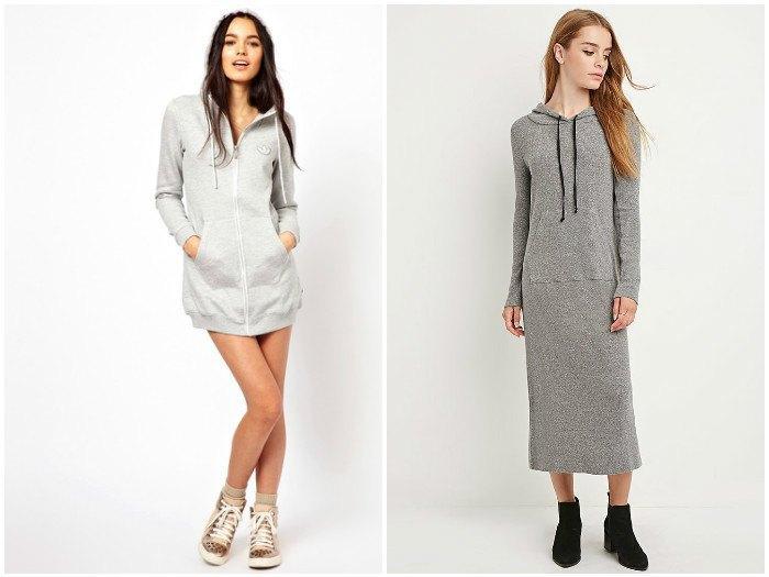 Модные толстовки-платья