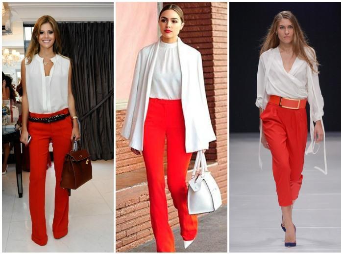 Образ с красными штанами и белым верхом