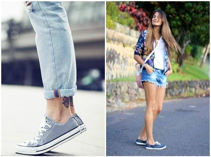 Сочетания с джинсовыми кедами