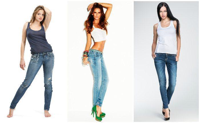Образы с джинсами по типу фигуры