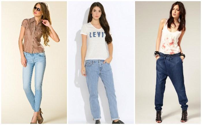 Женские джинсы на девушках