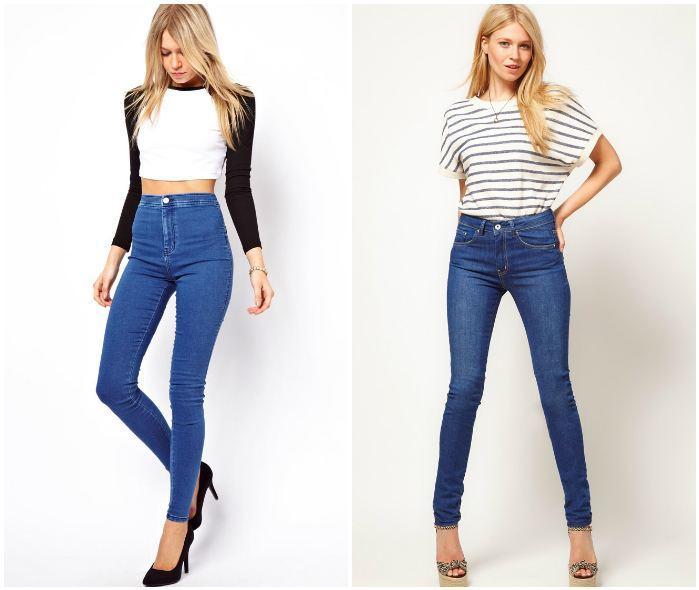 Образ с джинсами на высокой талии
