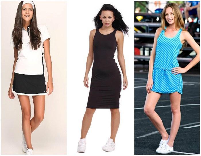 Сочетание спортивных платьев с кроссовками