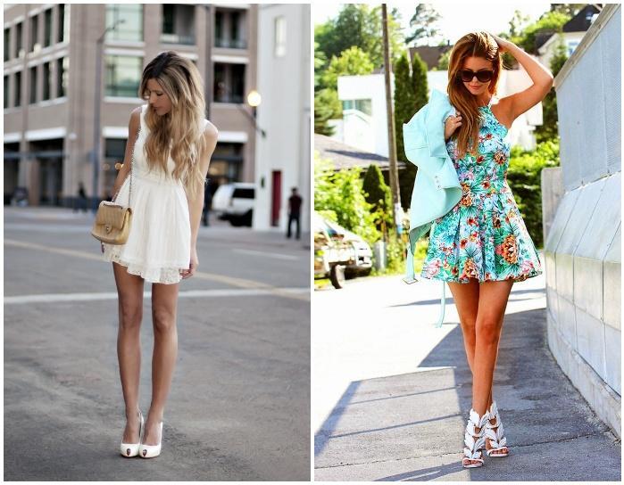 Обувь с платьем-мини