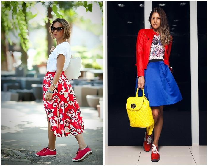 Образ с красными кроссовками
