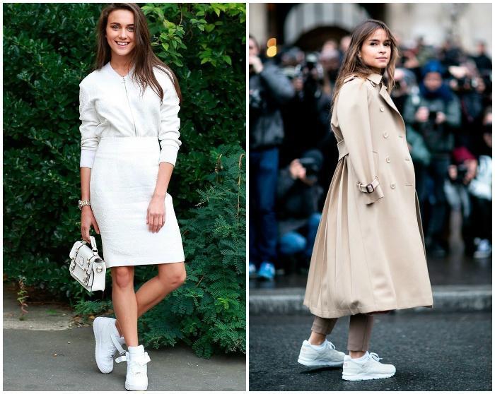 Образ с белыми кроссовками