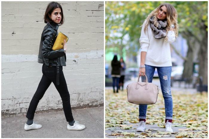 Высокие носки с джинсами
