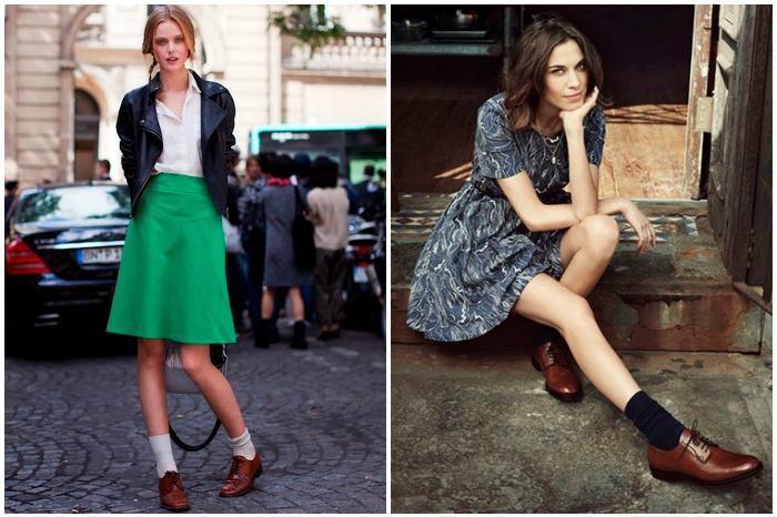 Девушки в носках и обуви