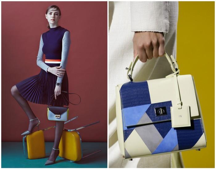 Маленькая сумочка с геометрическими узорами