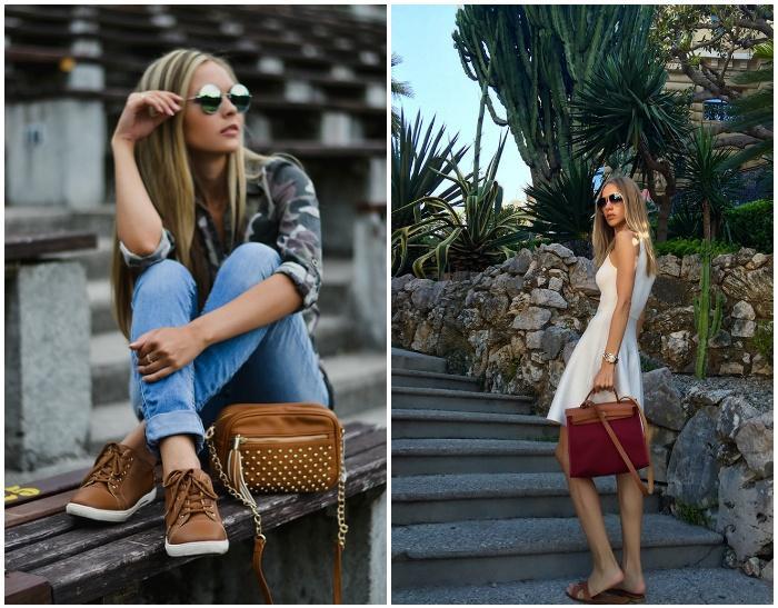 Модное сочетание сумки с обувью