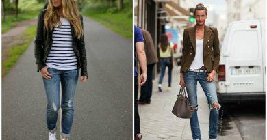 Кеды Сonverse с рваными джинсами