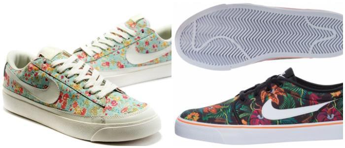 Кеды в цветочек Nike