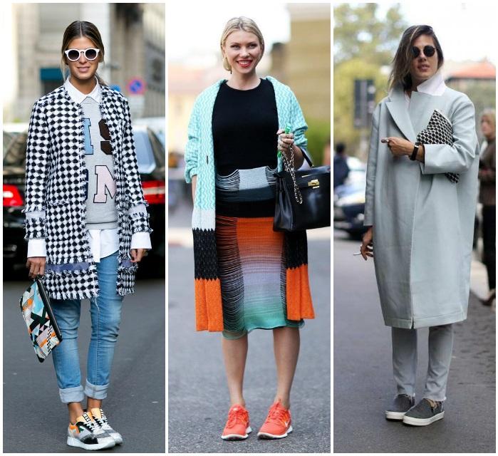 Образ с кроссовками на девушках