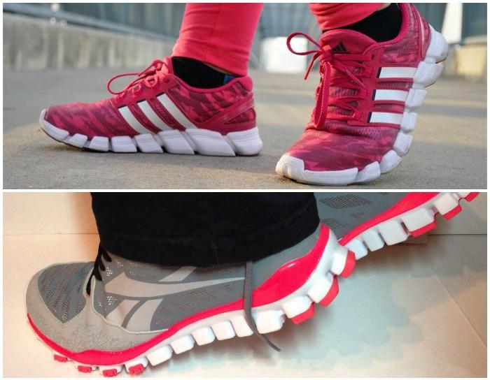 Беговые кроссовки с объемной подошвой