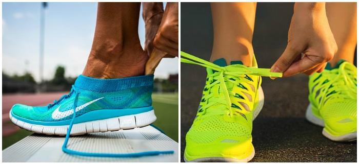 Яркие кроссовки для бега
