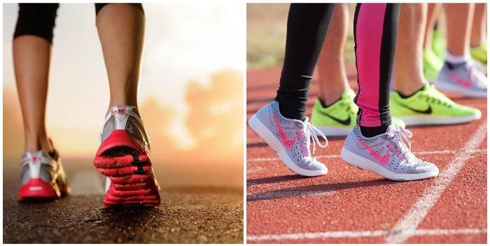 Бег в удобных кроссовках