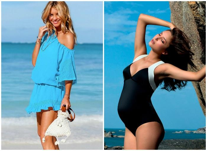 Пляжная мода для беременных