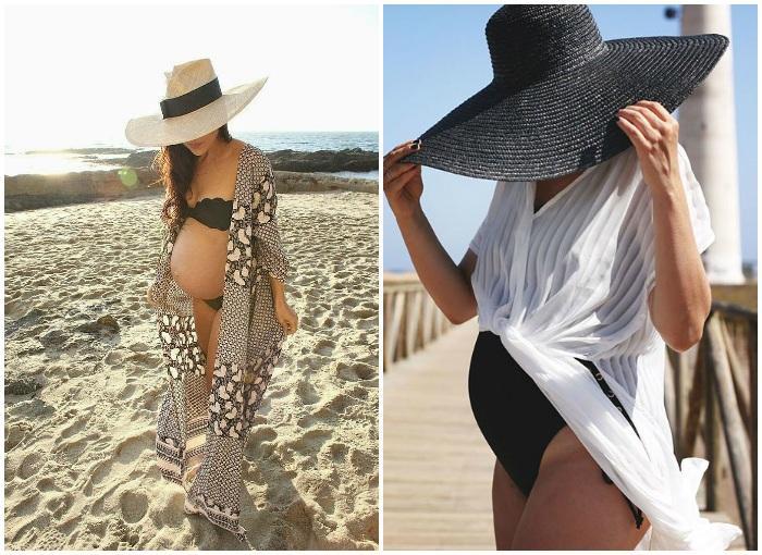Пляжный стиль для будущих мам