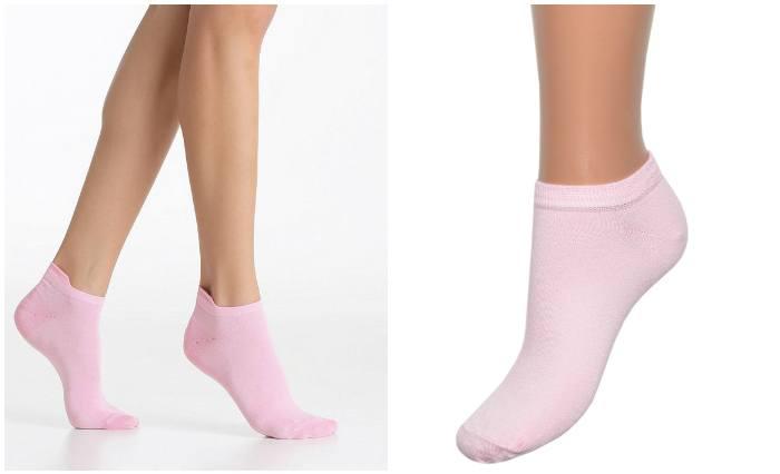 Белые носочки для мокасин