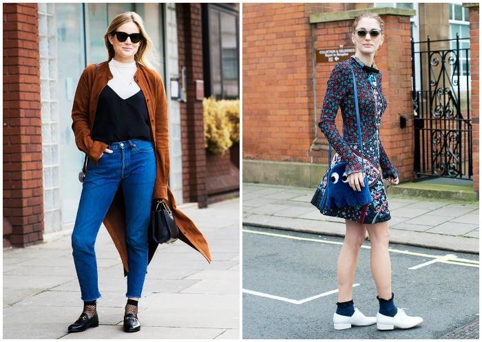 Мокасины с носками для модного образа