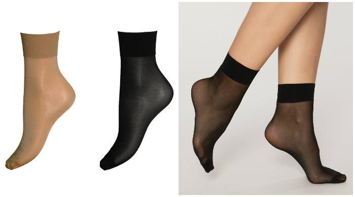 Капроновые носочки под мокасины
