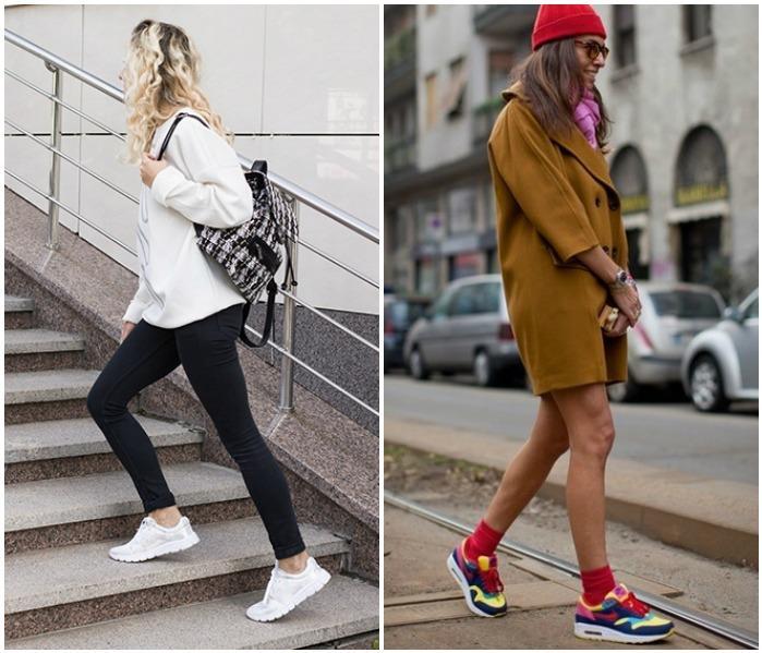 Образы с кроссовками для повседневности