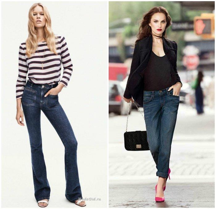 Грамотное сочетание джинс с обувью