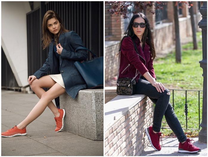 Модный образ с кроссовками и сумкой