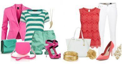 Модные образы с розовыми туфлями