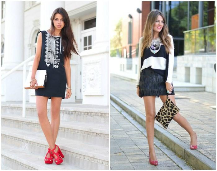 Образ коротких платьев с розовыми туфлями