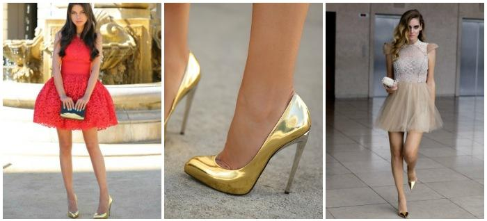 Образы с золотыми туфлями