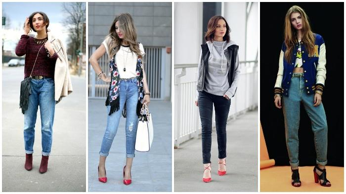 Модное сочетание джинс с обувью