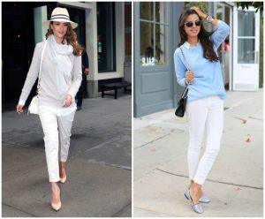 С чем одеть белые укороченные