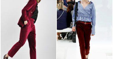 Замшевые укороченные брюки на моделях