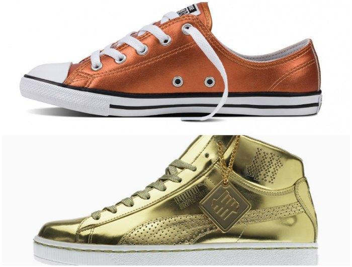 Золотые кеды - модный тренд