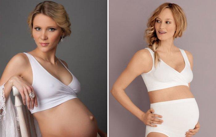 Бесшовный бюстгальтер-топ для беременных