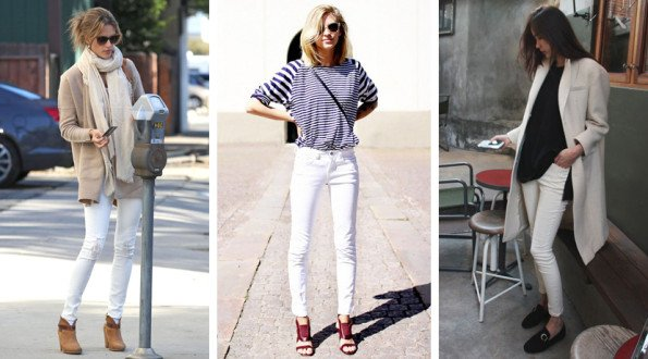 С чем носить белые брюки?