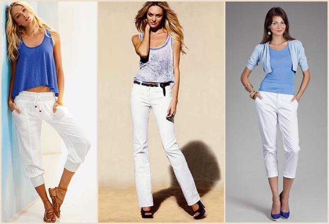 Белые брюки с майкой
