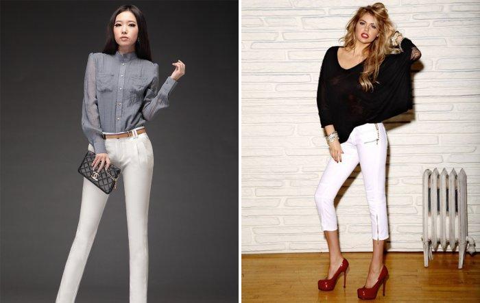 Белые брюки: модно и стильно