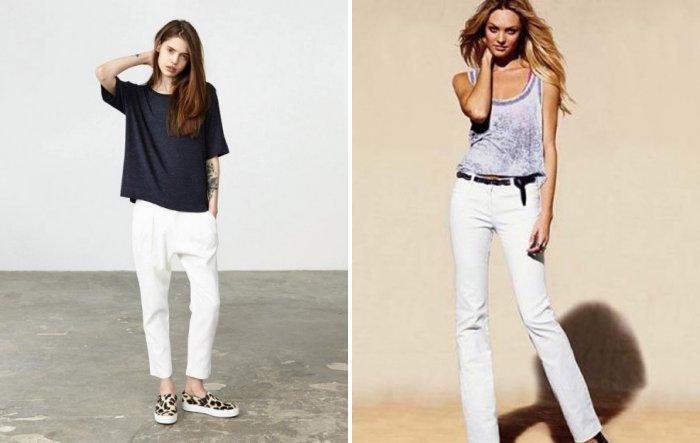 Белые брюки и стиль бохо