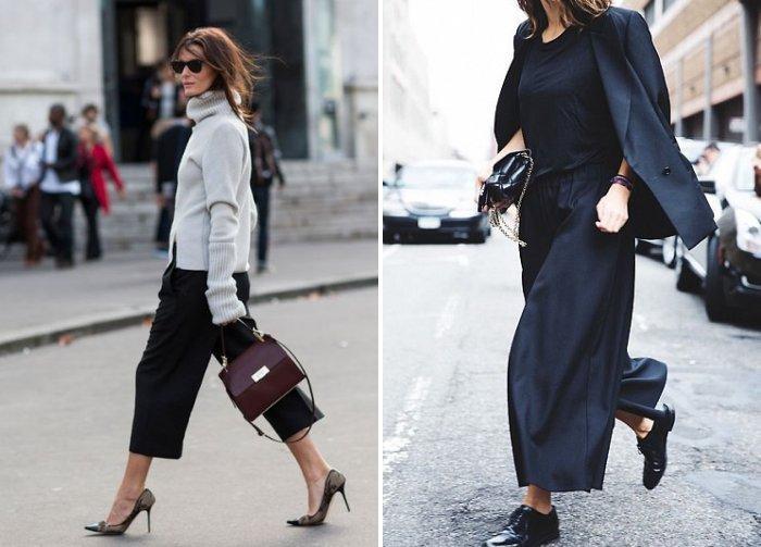Удлиненные брюки кюлоты